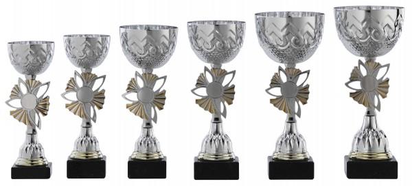6er-Serie Pokale A1099 inkl. Gravur und Emblem