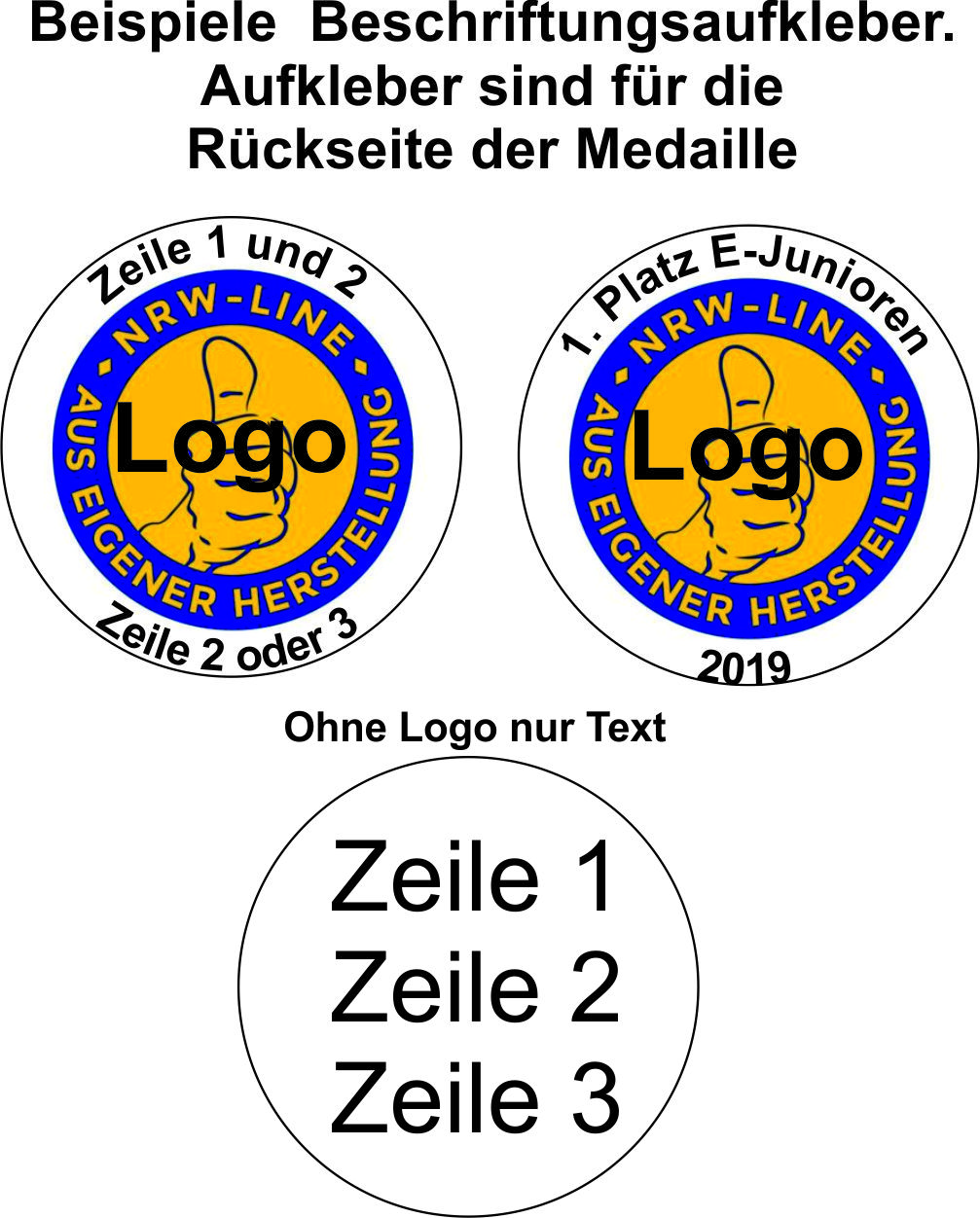 Medaillenbeschriftung