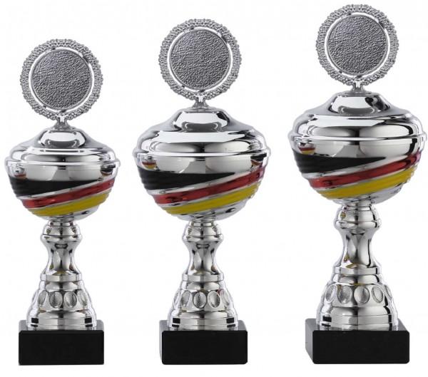 3er-Serie Pokale A1093 inkl. Gravur und Emblem