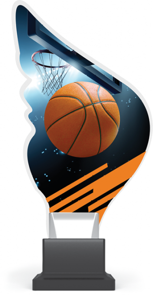 Acryltrophäe Basketball inkl. Gravur