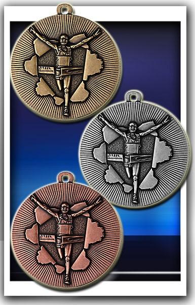 Lauf-Medaille D50D inkl. Band und Beschriftung