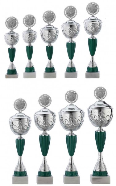 9er-Serie Pokale A4016 inkl. Gravur und Emblem