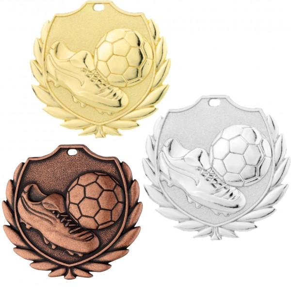 Fußball-Medaille D77B inkl. Band und Beschriftung