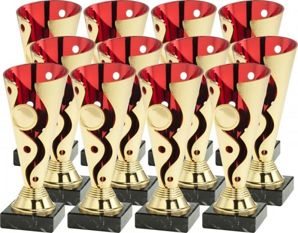 12 Pokale Set-06-GR-12-1 inkl. Beschriftung und Emblem