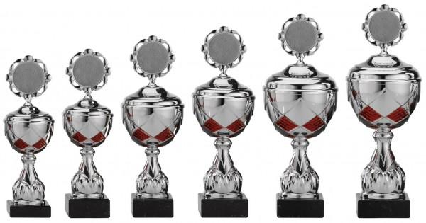 6er-Serie Pokale A4003 inkl. Gravur und Emblem