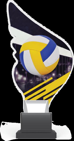 Acryltrophäe Volleyball inkl. Gravur