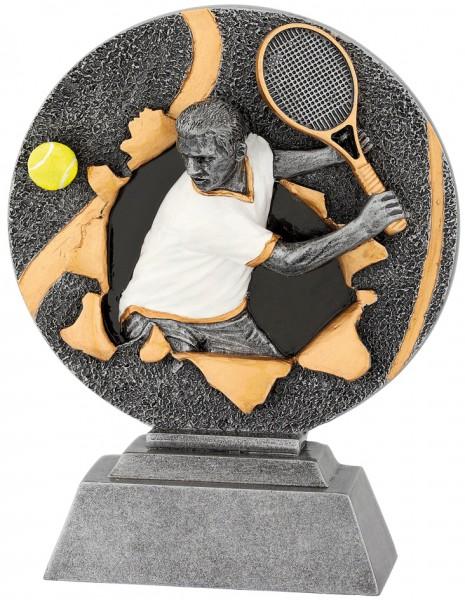 Tennis-Trophy in 3D Optik inkl. Gravur