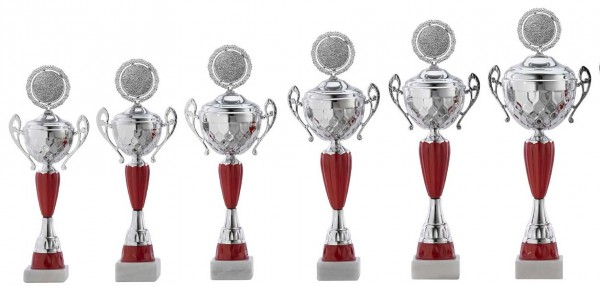 6er-Serie Pokale A4012 inkl. Gravur und Emblem