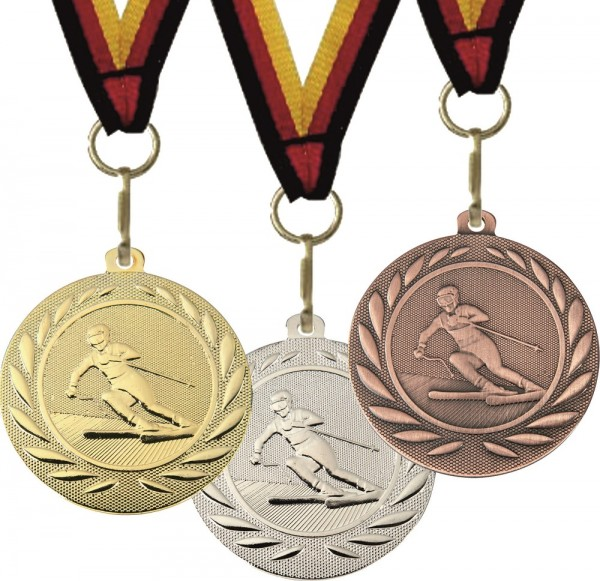 Ski-Medaille DI15000Q inkl. Band und Beschriftung