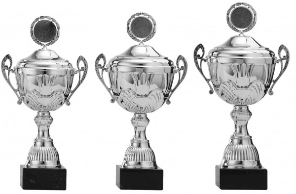 3er-Serie Pokale A4006 inkl. Gravur und Emblem