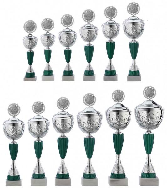 12er-Serie Pokale A4016 inkl. Gravur und Emblem