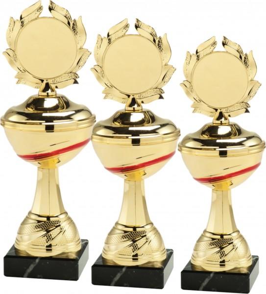3er Serie Pokale inkl. Gravur und Emblem