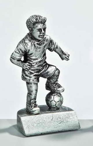 Resinfigur Fußballjunge 110mm inkl. Beschriftung