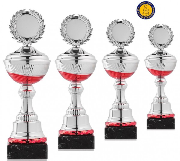 4er-Serie Pokale NRW Line P10-RS inkl. Gravur und Emblem