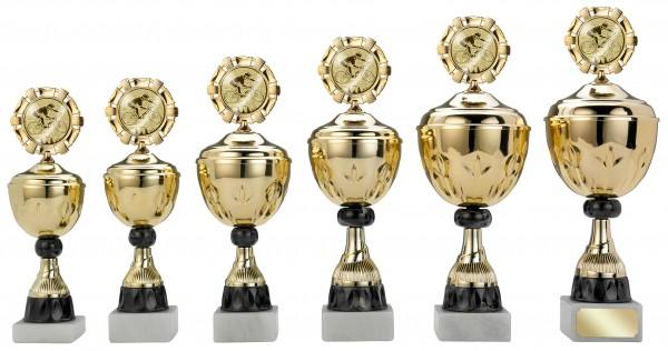 6er-Serie Pokale S404 inkl. Gravur und Emblem