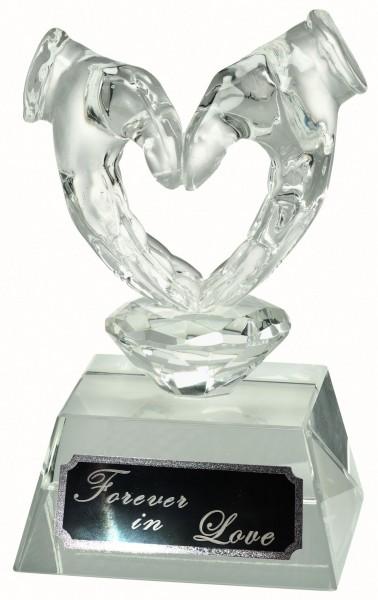 Glaspokal Herz W626 inkl. Box und Gravur