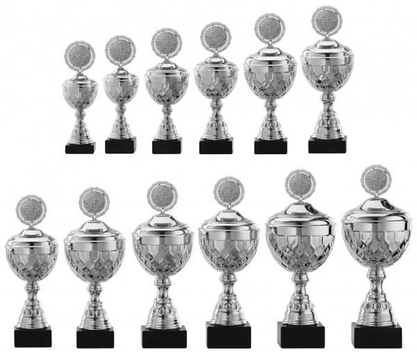 12er-Serie Pokale A4015 inkl. Gravur und Emblem