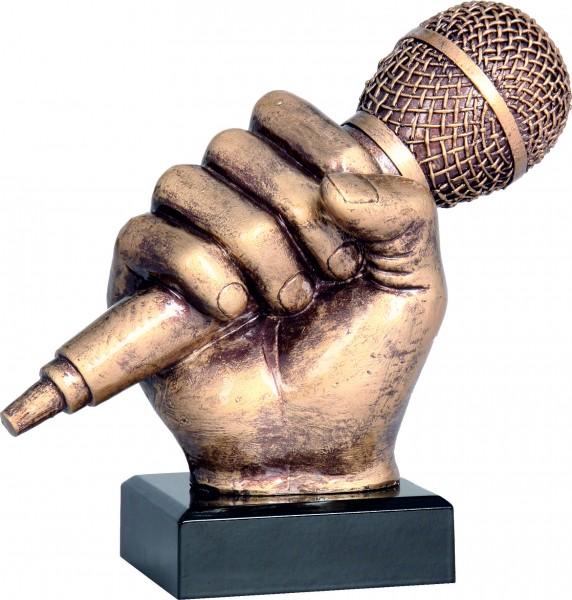 Trophäe Mikrofon RFST2074-14 inkl. Gravur