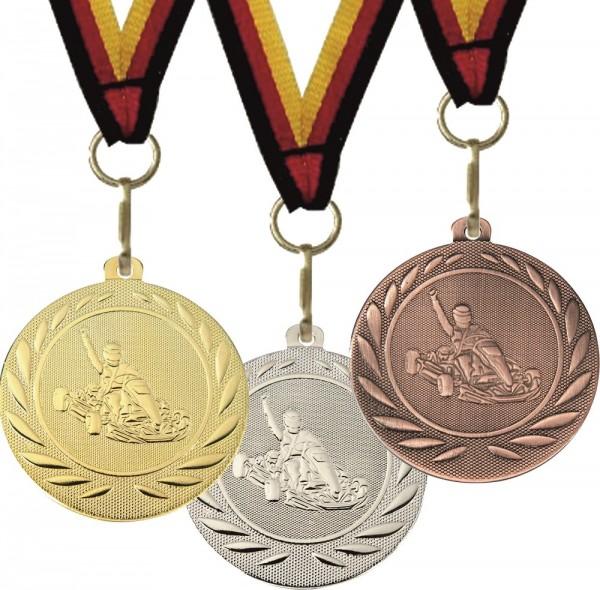 Kart-Medaille DI5000J inkl. Band und Beschriftung