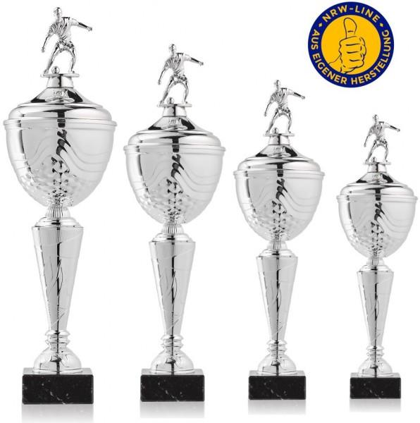 4er-Serie Fußball Pokale NRW Line Biggi-Si. inkl. Gravur