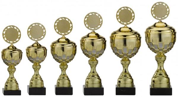 6er-Serie Pokale A4004 inkl. Gravur und Emblem