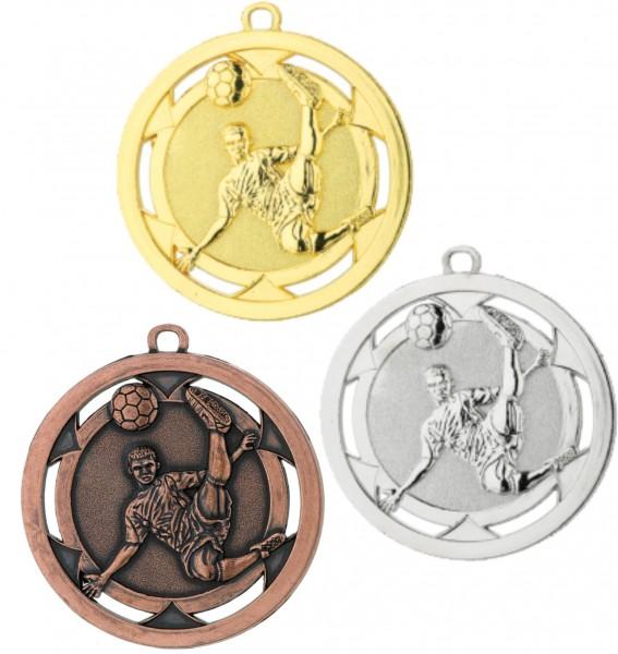 Fußball-Medaille D4A inkl. Band und Beschriftung