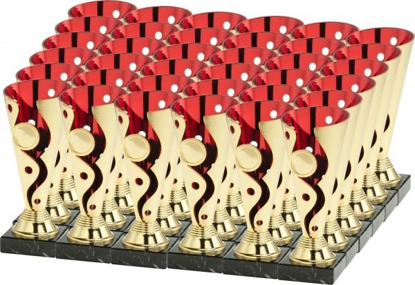12x 3er Serie Pokale Set-06-GR-1-3-36 inkl. Beschriftung und Emblem