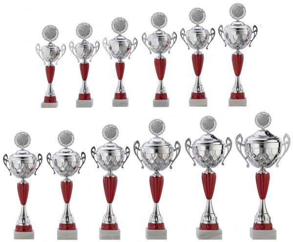 12er-Serie Pokale A4012 inkl. Gravur und Emblem