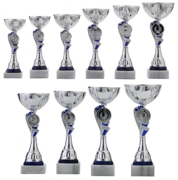 10er-Serie Pokale A4010 inkl. Gravur und Emblem