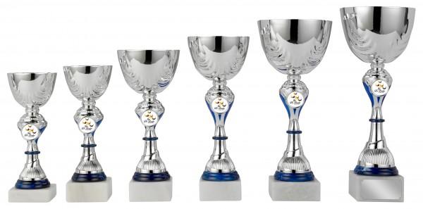 6er-Serie Pokale S427 inkl. Gravur und Emblem