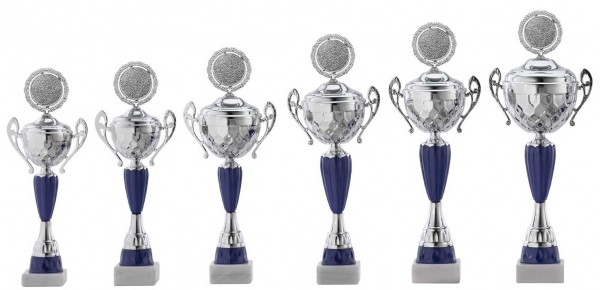 6er-Serie Pokale A4017 inkl. Gravur und Emblem